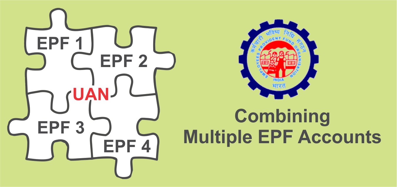 combining multiple EPF accounts through UAN