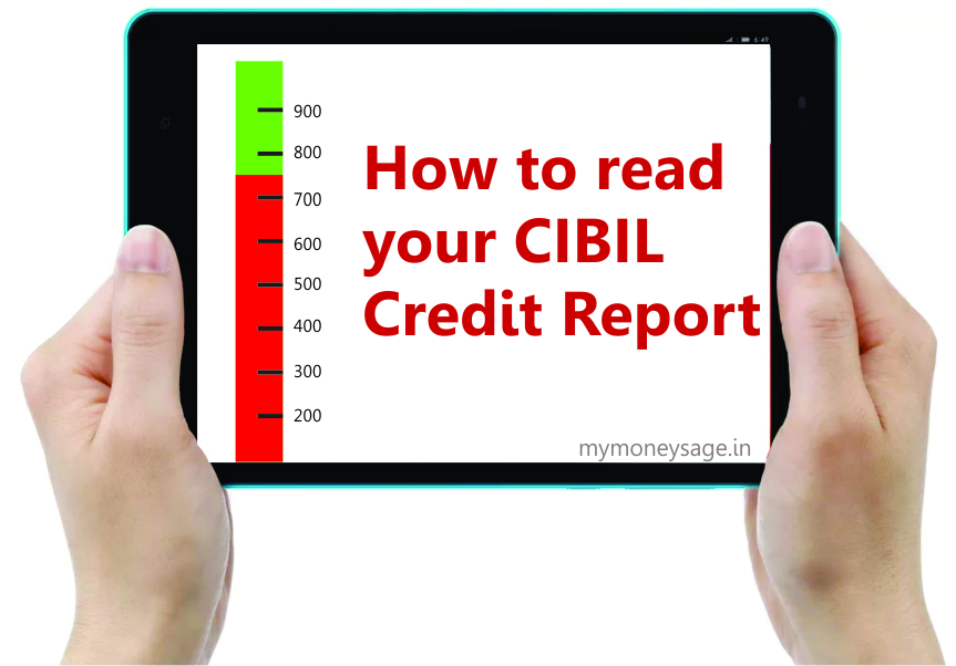 how to read your cibil credit information report