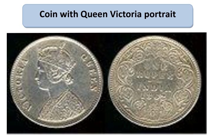 Coin with Queen Victoria Portrait