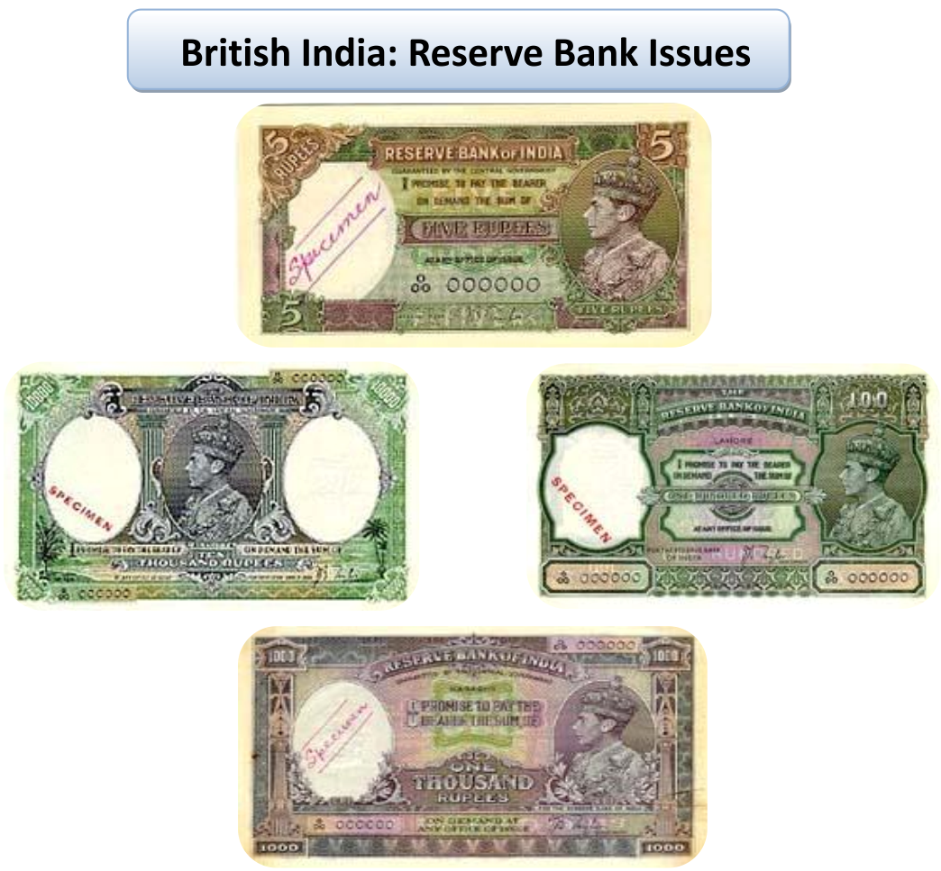 Reserve Bank Issues during British India