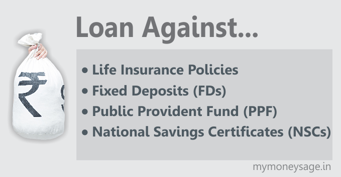 Here is how to avail a Loan against Life Insurance Policies/Fixed Deposits/PPF/NSC- main