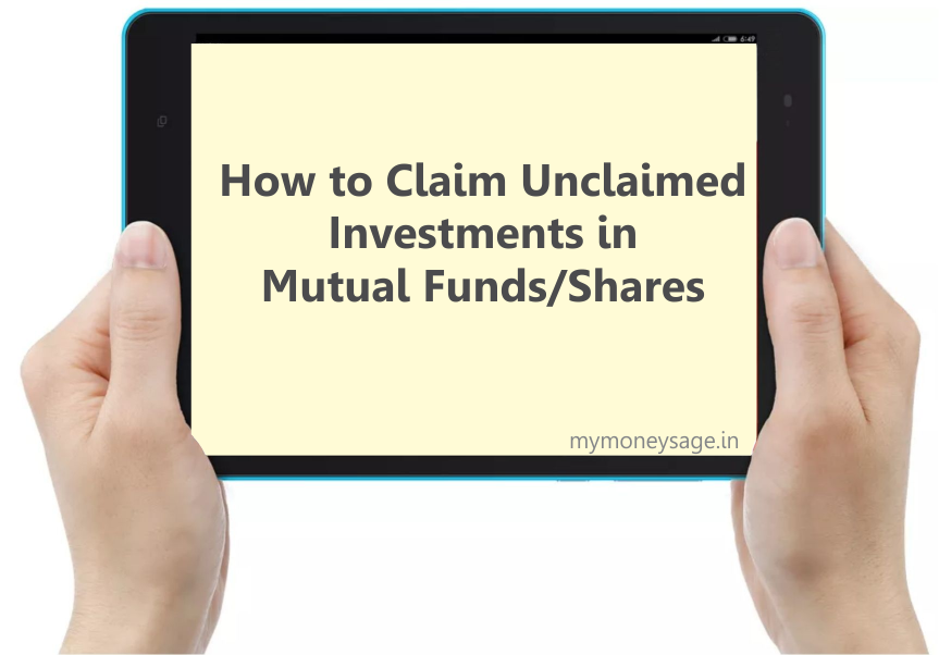 how to claim unclaimed investments in mutual funds and shares