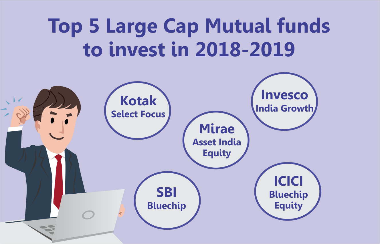 Top 5 Large Cap Mutual funds to invest in 2018-2019